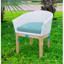 Design élégant en résine synthétique Rattan Dining Chair Wicker Furniture