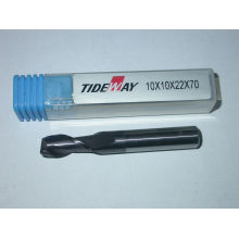Durable Micro - Grain Tct Carbide End Mill With Two Flute Flat Nose, Short Shank