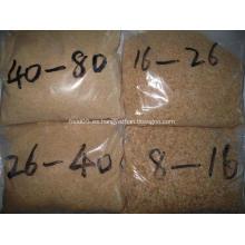 Diferentes tamaños de gránulos de ajo deshidratado