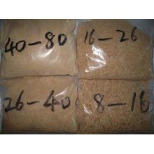 Verschiedene Größen des dehydrierten Knoblauchgranulats