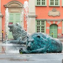 Estatua de león verde de metal de alta calidad 2018