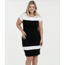 O-neck Short Sleeve Dress Plus Size Dress