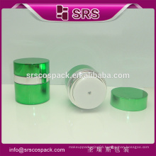 SRS cosmetic acrylic jar , 15g 30g 50g plastic airless container for face cream