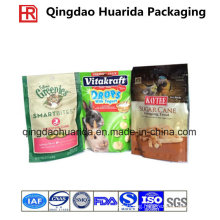 Dog/ Pet Food Standing up Plastic Bag with Chain Manufacturer