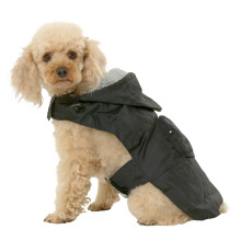 Doglemi al por mayor prenda impermeable al aire libre perro mascota chaqueta de lluvia luz de la chaqueta en impermeable perro de bolsillo