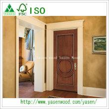 Top Quality Flush Solid Wood Single Leaf Front Doors
