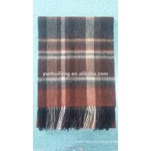 La mejor calidad interna de lana de Mongolia.pashmina bufanda a cuadros tartán