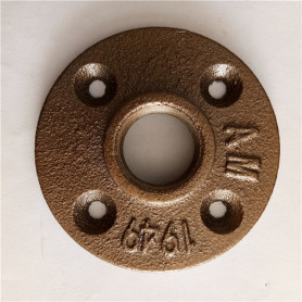1/2 inch decorative brass pipe flange