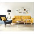 Современные простые японские секционные мебель гостиной угловой диван ткань диван