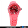 cheap quartz plastic watch with sunray dial