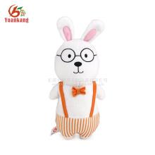 Juguete lindo del conejo de conejito de la felpa de los 25cm con los vidrios