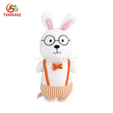 25cm Cute Plush Bunny Rabbit Toy with Glasses