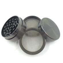 Molinillo de hierbas de metal cromado para fumar cigarrillos (ES-GD-011-S)