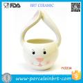 Table Decor Ceramic Easter Bunny Storage Basket