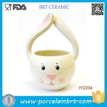 Panier de rangement en forme de lapin de Pâques