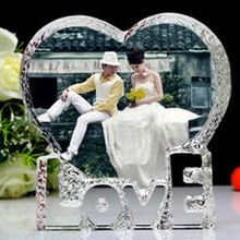 Romantic Crystal Iceberg Photo Frame for Wedding (JD-CD-803)