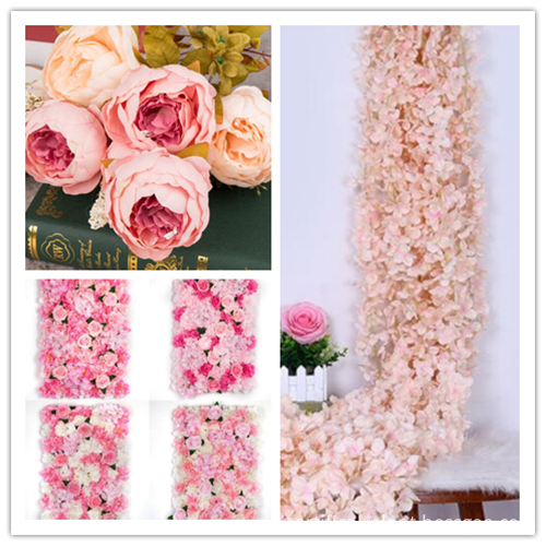 artificial flowers wall