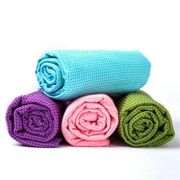 China Factory Custom Logo OEM Non Slip Microfiber Fitness Sports Hot Yoga Mat Towel