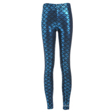Venda quente de fitness respirável senhora roupas desgaste peixe escala moda mulheres leggings
