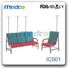 IC001 Hospital medical transfusion chair with i.v. pole