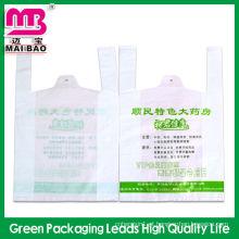 saco de plástico biodegradável personalizado t-shirt para fazer compras