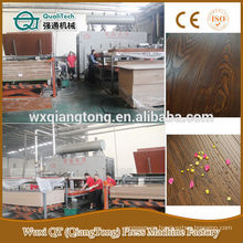 2600T laminación de piso máquina de prensa / grano de madera línea de prensa caliente