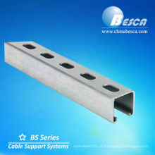 GI entalhado canal de suporte UL cUL SGS ISO CE
