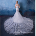 3d Flower Lace Empire Sexy Mermaid Wedding Dress