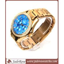 Quartzo em ouro rosa e relógio impermeável para homem com liga