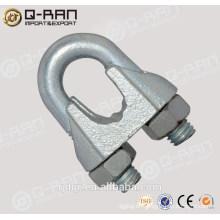 Qingdao aparejos fundición maleable pinza Din741 Wire Rope Clip