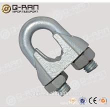 Qingdao gréement coulée de fonte malléable pince Din741 câble Clip