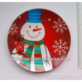 2014 best quality ceramic display plate,snowman ceramic dinner side plates