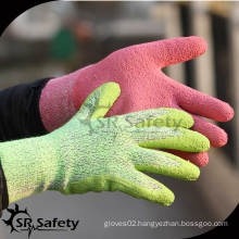 SRSAFETY 13G latex coated safety working gloves/latex foam glove/safety glove/working latex glove