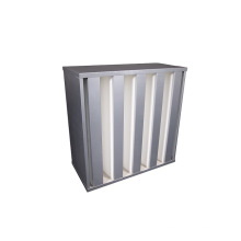 Minipleat HEPA Filter E11 E12 H13 H14 V-Bank HEPA Air Filter with Galvanised Steel Frame