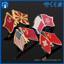 pino personalizado da lapela da bandeira da amizade do país