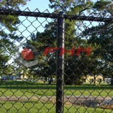 Encaixe Chain revestido preto do PVC que cerca para o jardim