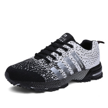 New style high quality walking men casual shoes mesh color matching women walking flat sole sneakers unisex wear