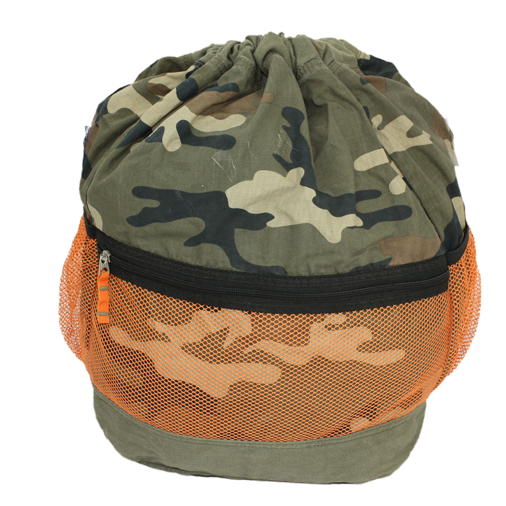 Canvas Camouflage Drawstring Tote Bag