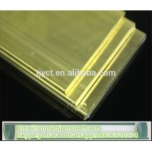 melhor venda de preço de fábrica de placa de latão H62 para preços de fábrica de folha de latão amarelo