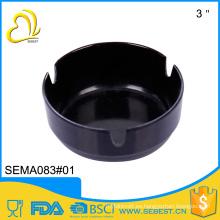 Ceniceros plásticos del melamina negro del tamaño de encargo portable al por mayor caliente