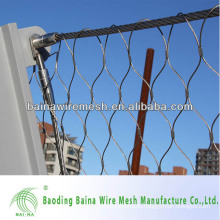 hand woven wire rope ferruled mesh zoo mesh /animal enclosure /aviary netting(made in china)