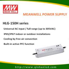IP65 150W LED controlador de fuente de energía (HLG Meanwell - 150H)