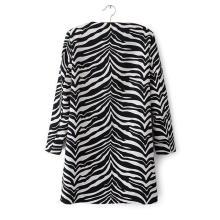Factory OEM 2015 High Quality Zebra Print Winter Women Coat