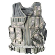 NIJ nivel 3A chaleco táctico a prueba de balas militar camuflaje armadura de cuerpo balístico
