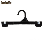 "10"" 25pcs Black Pants Hangers with Plastic Hook - For Trousers, Undergarments, and Lightweight Wears"