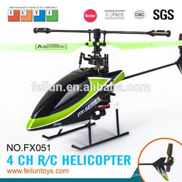 Nouveau! 2. 4 G 4CH fluorescence vert pale flybarless essence hélicoptère avec certificat de CE/FCC/ASTM écran LCD