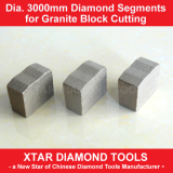 Dia.3000mm Granite Segments Stone Cutting Tools