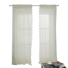 Beige Lace Jacquard Curtain