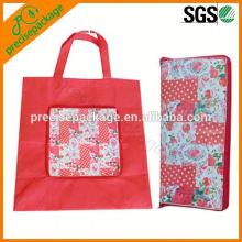 Wiederverwendbare faltende Mappen-Form-Einkaufstasche-nicht gesponnene Tasche