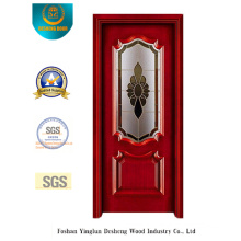 Simplified European Style Steel Door with Glass (s-1015)